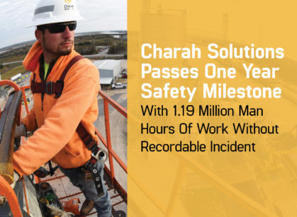 Charah Solutions Passes One Year Safety Milestone Graphic